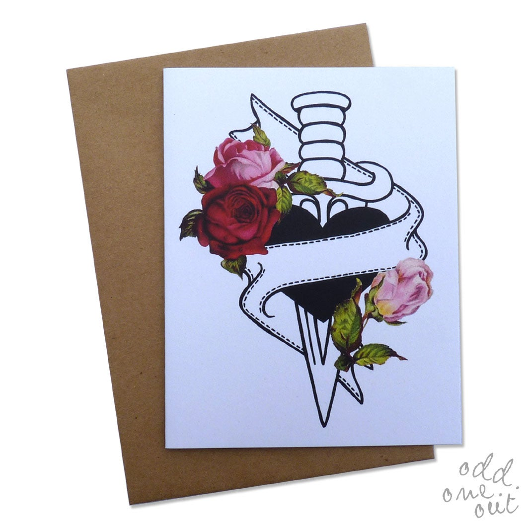 Image of Love Dagger - Customizable card!