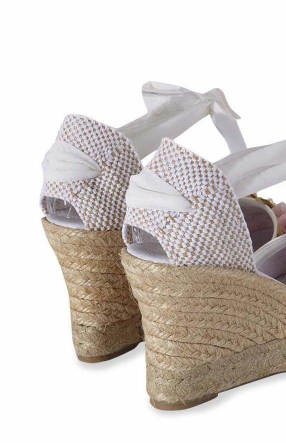 Image of espadrille jute back heel