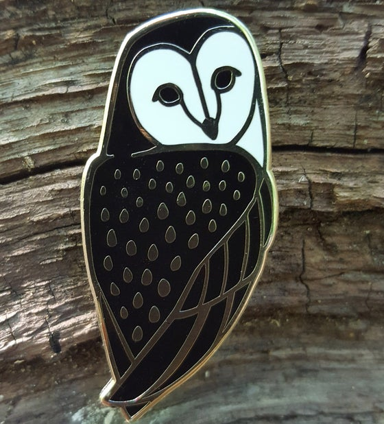 Image of Barn Owl Lapel Pin