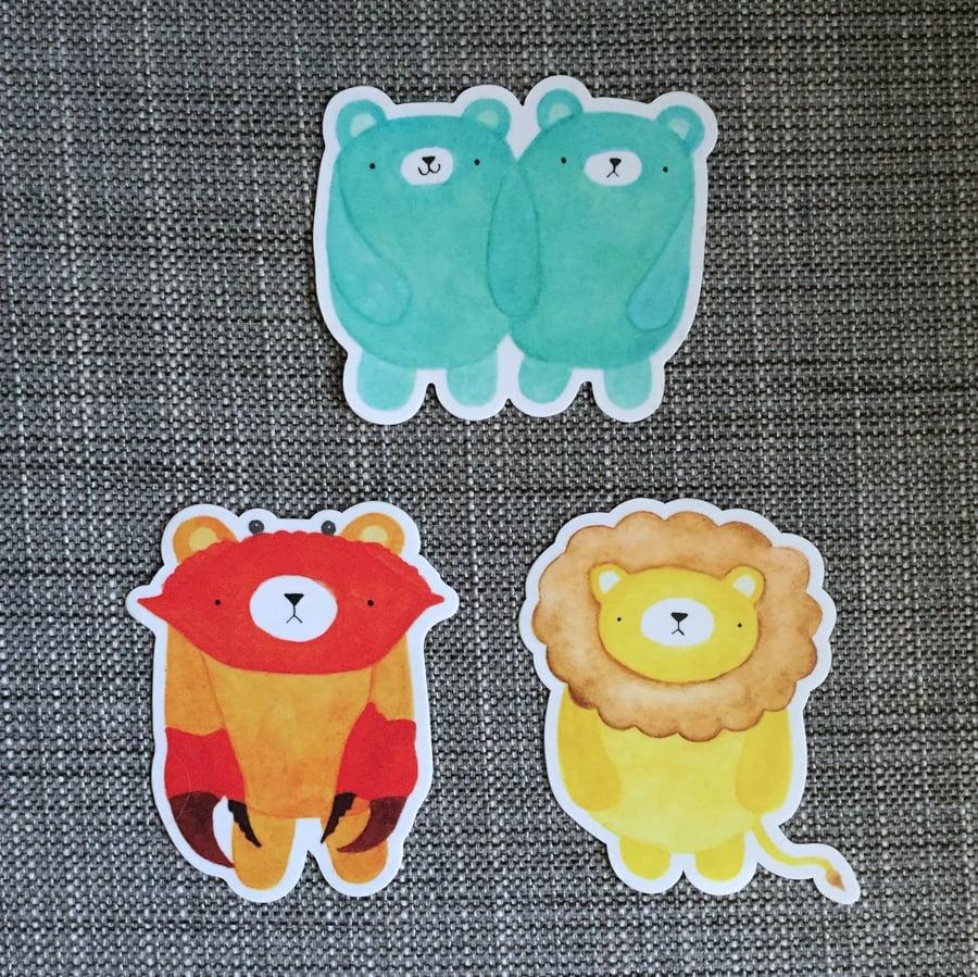 Image of pudgy bear horoscope vinyl stickers