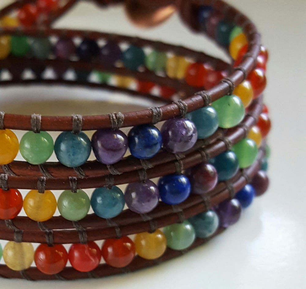 Image of Meditative Chakra Triple Wrap Bracelet