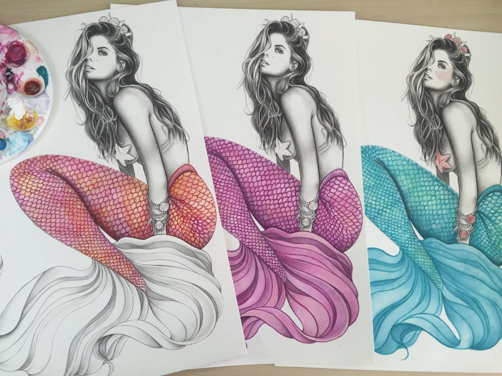 Image of Custom colour mermaid