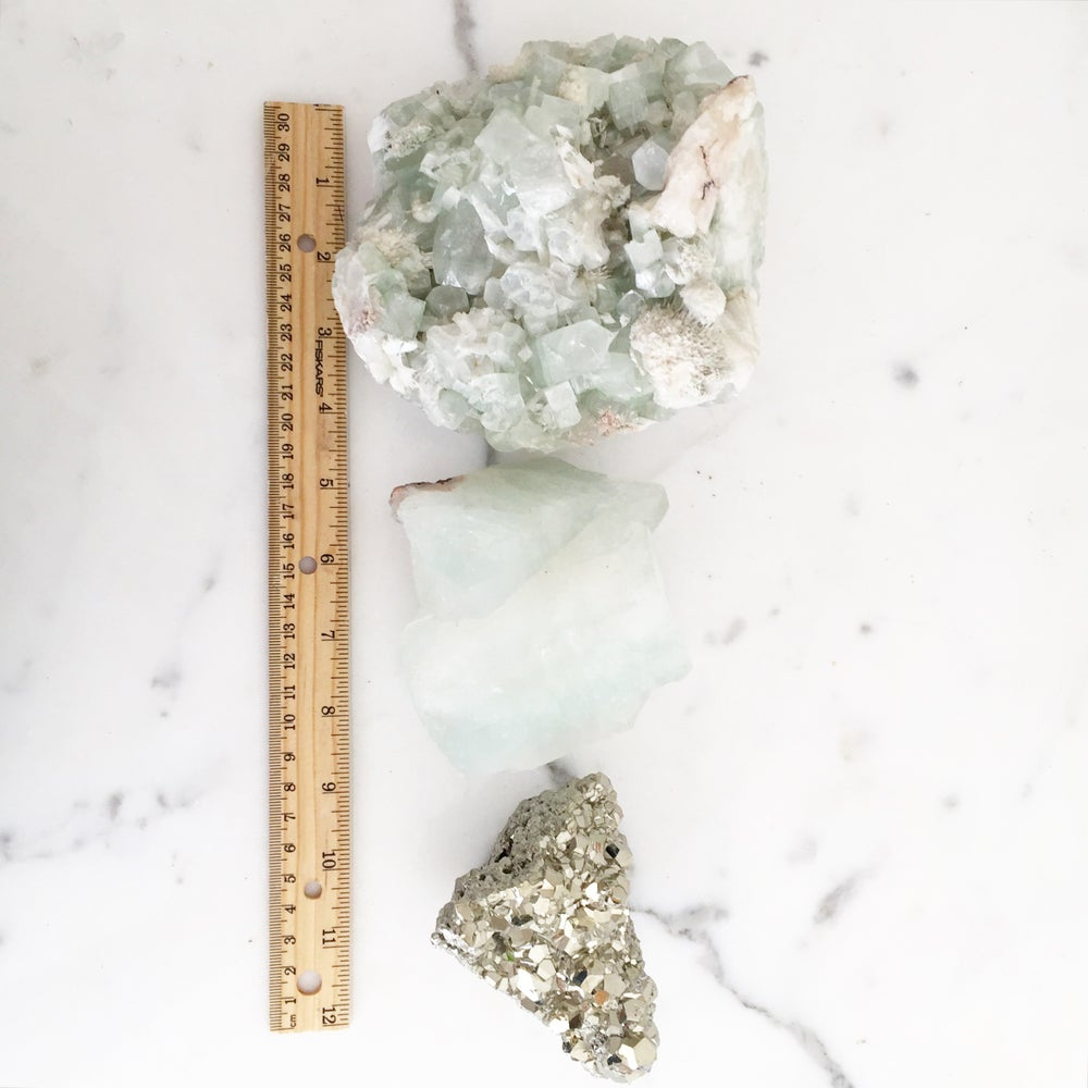 Image of Tall, Brass Claw Mineral + Crystal + Stone Specimen Stand