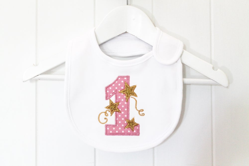 Image of First Birthday Bib