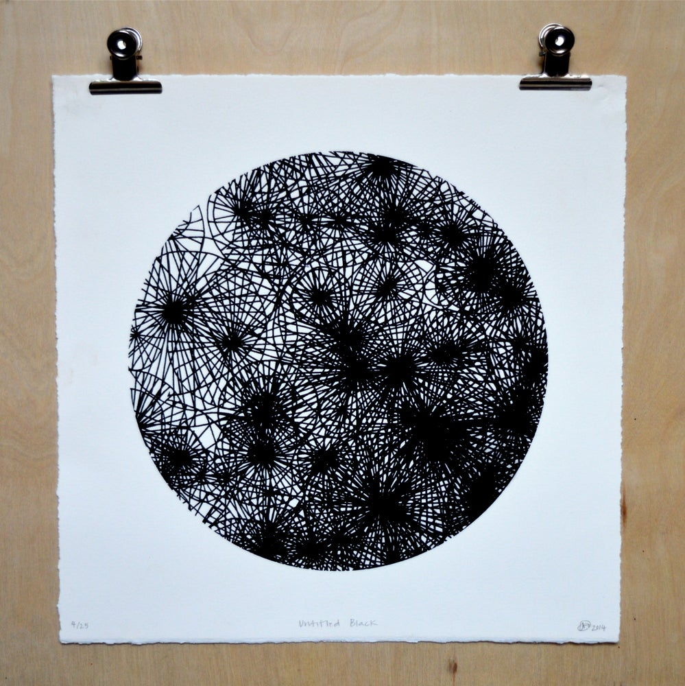 Image of 'Untitled Black' screenprint