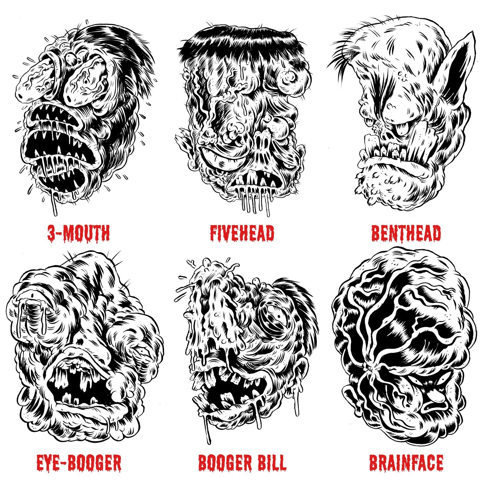Original Ugs, Fugs, and Grossos Ink Drawings