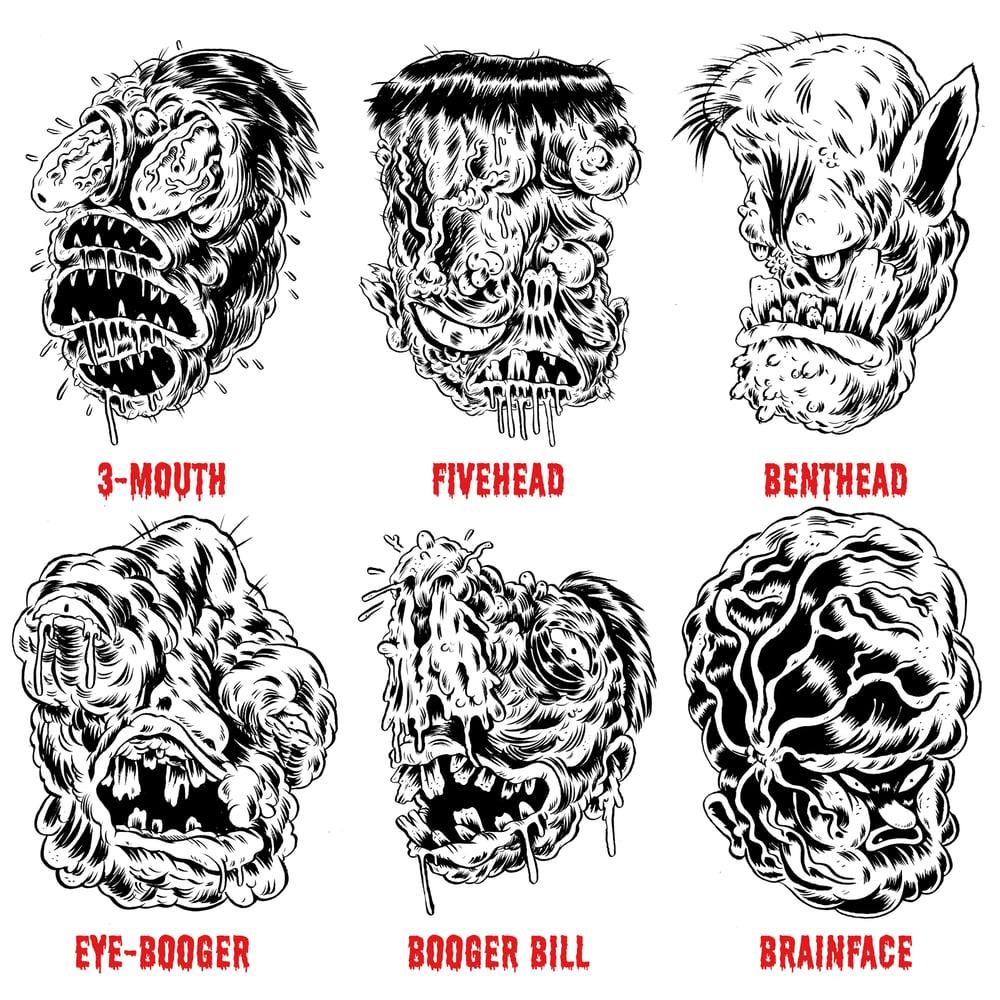 Image of Original Ugs, Fugs, and Grossos Ink Drawings