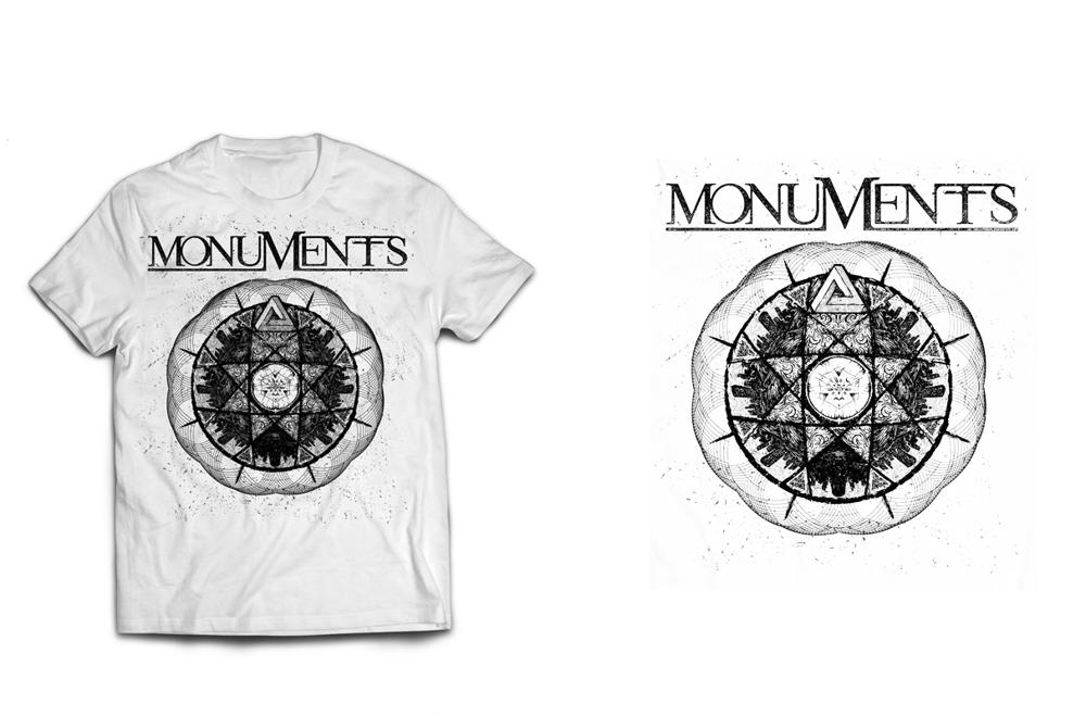 Image of MONUMENTS - Trockz - White Tee