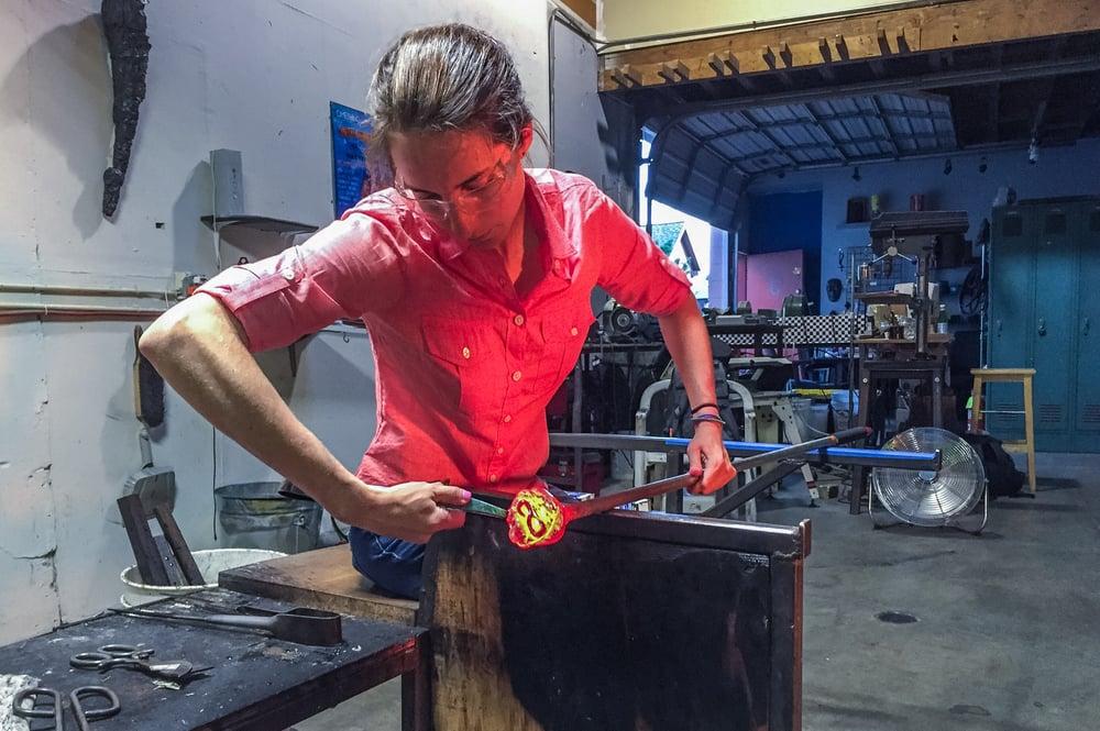 Image of 3 hour Glassblowing class for 8 - 12 participants / 3 instructors