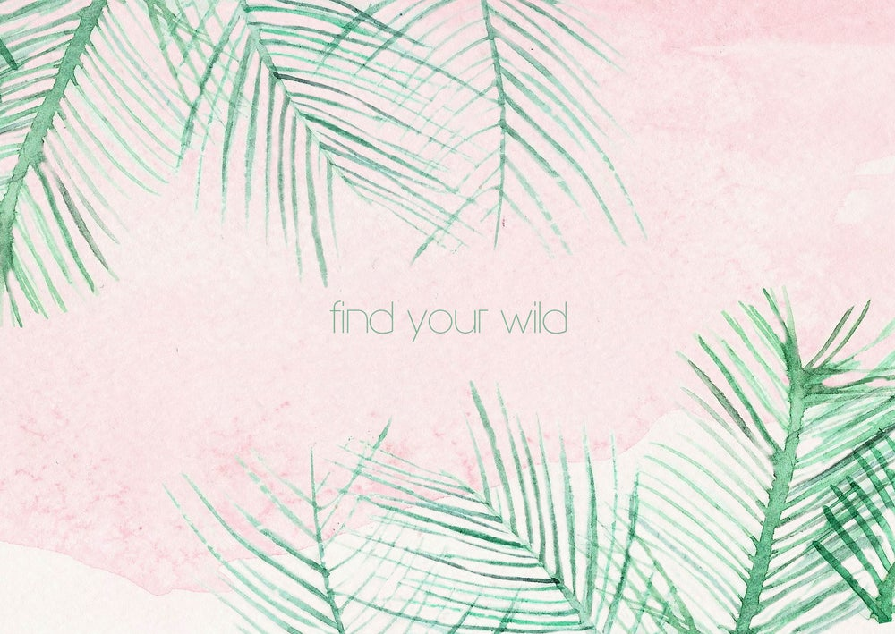 "Image of 20. postkaart plant aquarel ""Find your wild"""