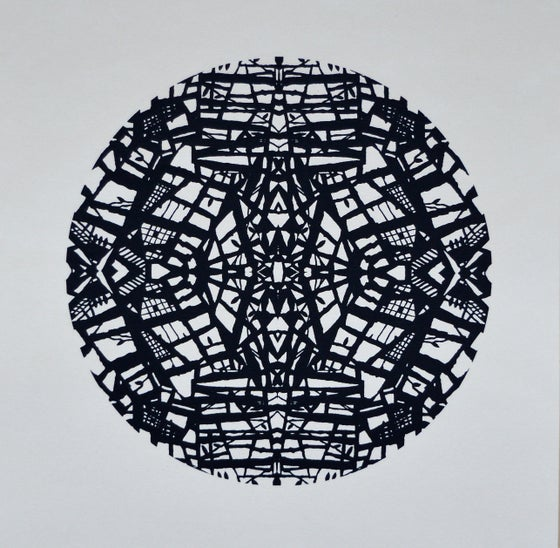 Image of 'Religious Folk 2, Black' Screenprint