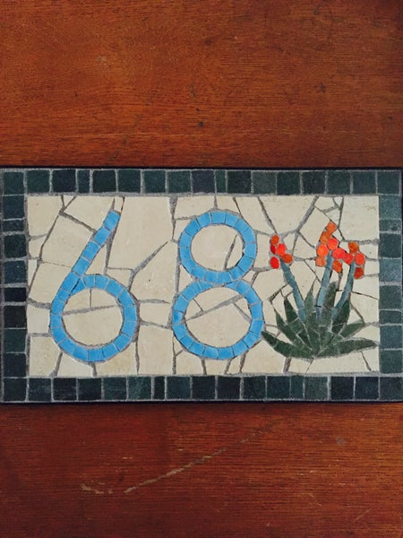 Image of Custom Mosaic House Number by Alba Cisneros