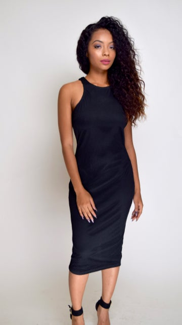 Image of Black Bodycon Dress