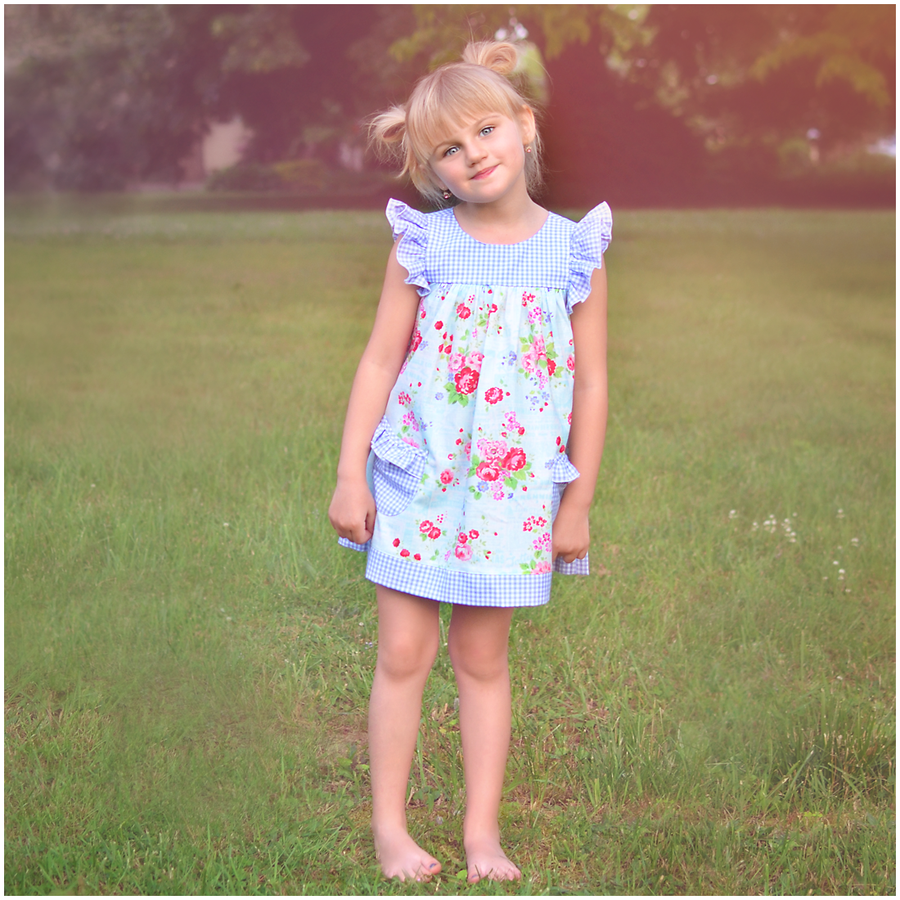 Image of Blueberry Market-Playdate Dress