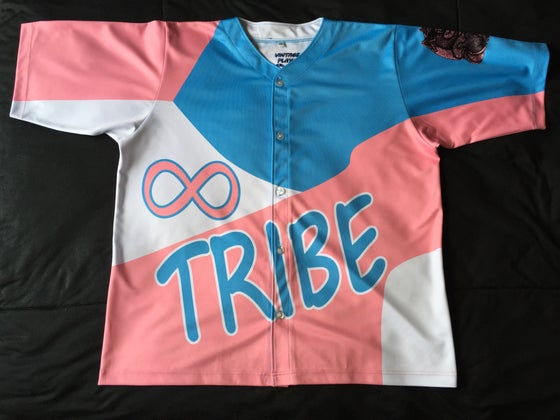 "Image of Tribe Baseball Jersey ""Cotton Candy"""