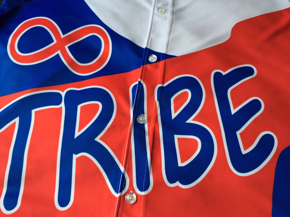 """Image of Tribe baseball jersey """"Kenny Anderson"""""""
