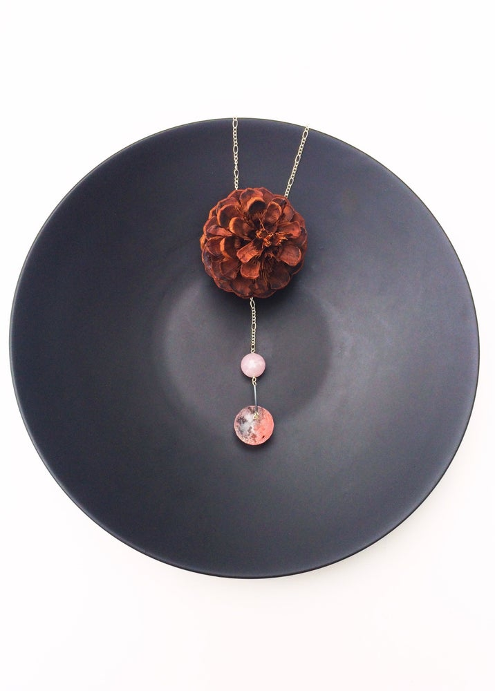 Image of Strawberry and Pink Quartz Necklace