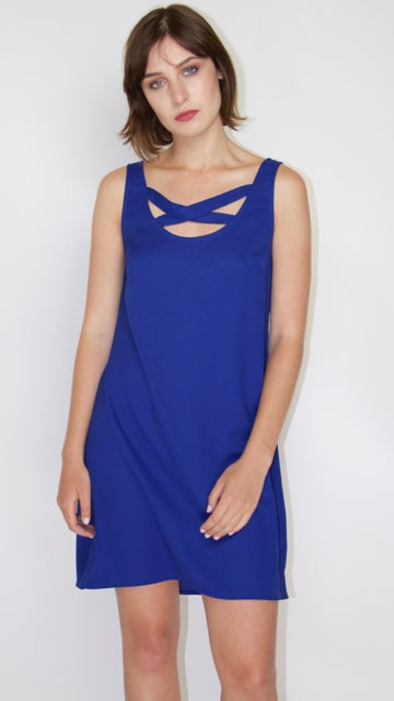Image of Royal Blue Sleeveless Dress