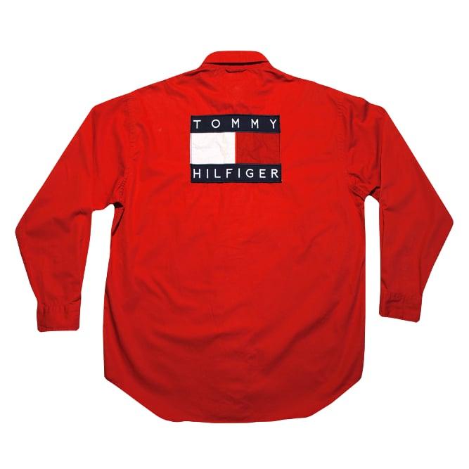 Image of Tommy Hilfiger Vintage Big Logo Shirt U.S.A.
