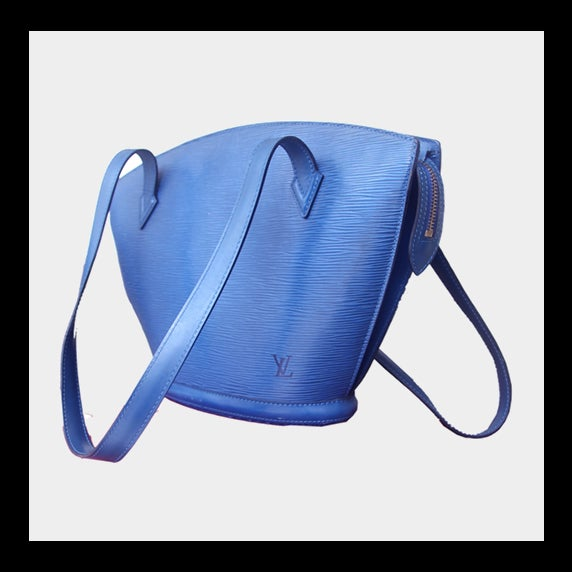 Image of Louis Vuitton Blue Alma GM Epi Shoulder Bag