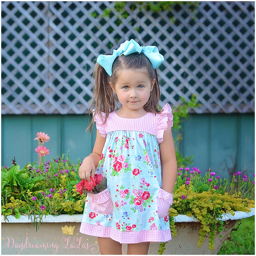 Image of Peach Market-Playdate Dress