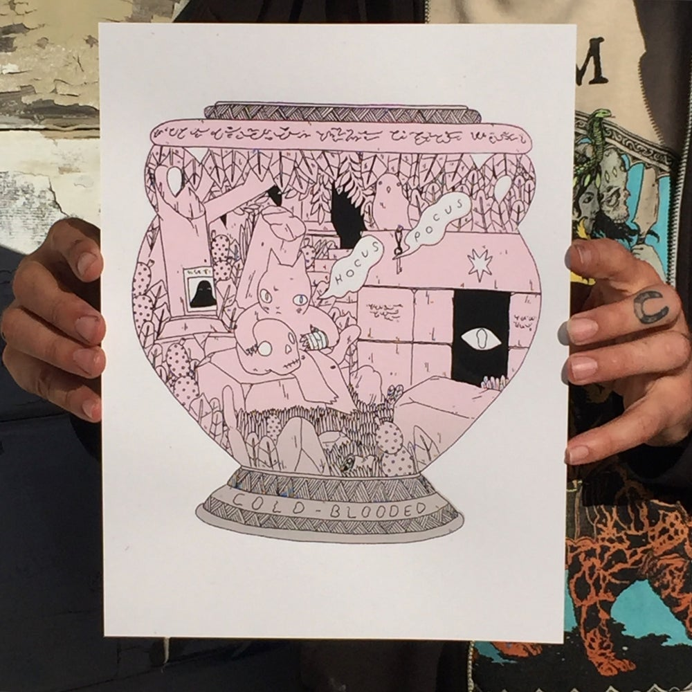 Image of Cold Blooded Vase Print