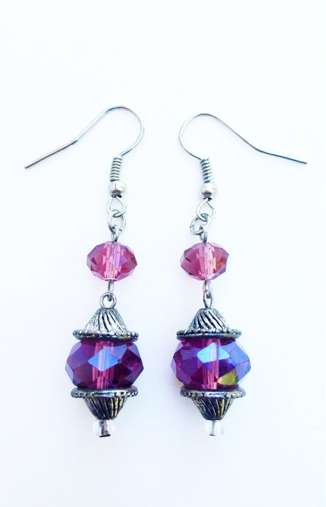 Image of Grape Juice Crystal Earrings