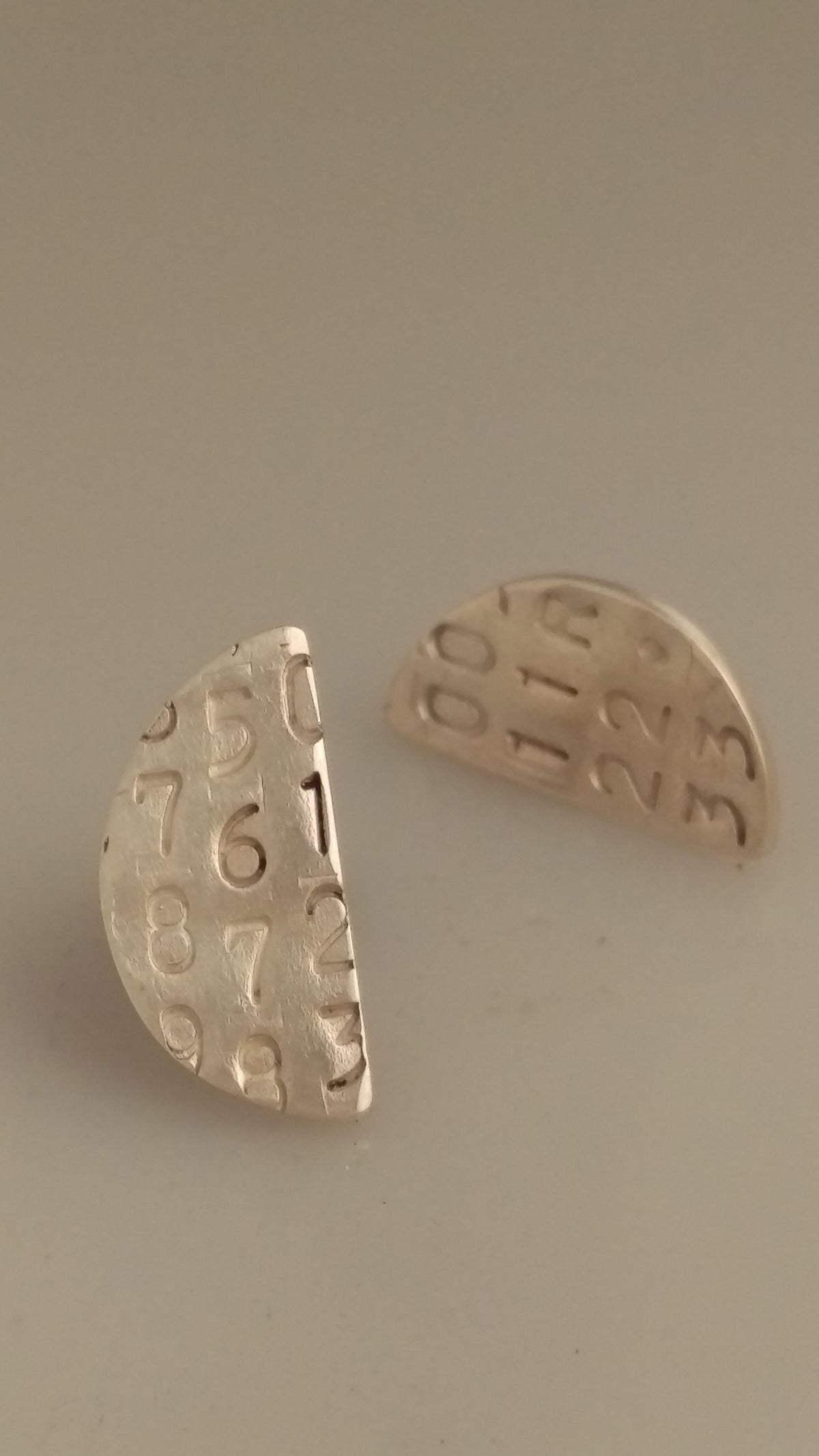 Image of Generated Number Series Earrings