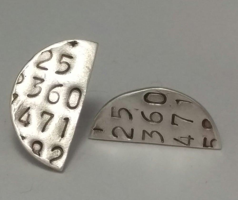 Image of Generated Number Series Earrings