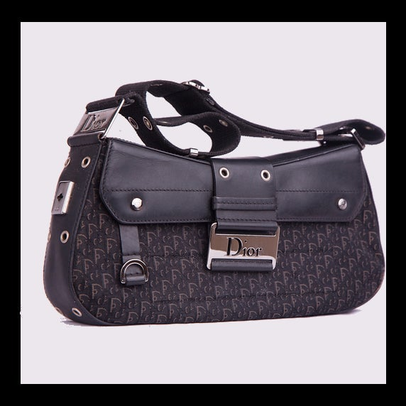 Image of Christian Dior Black Monogram Street Chic Bag