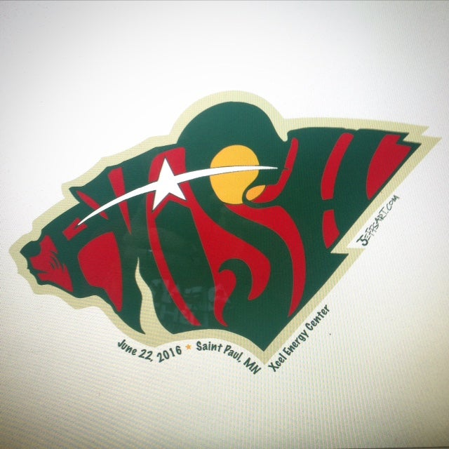 Image of Phish Wild St. Paul Sticker 2016
