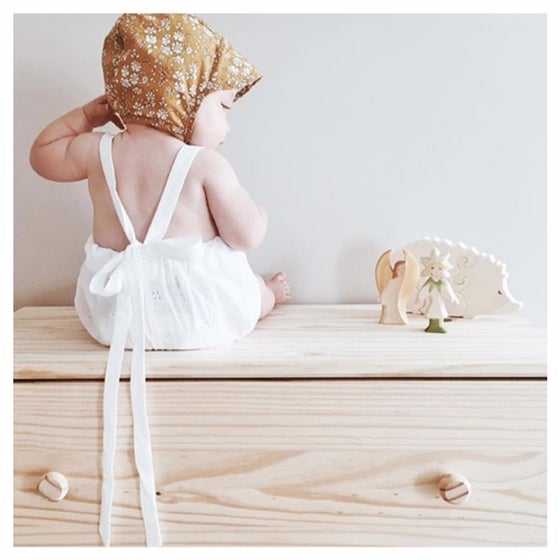 Image of vintage white rompers