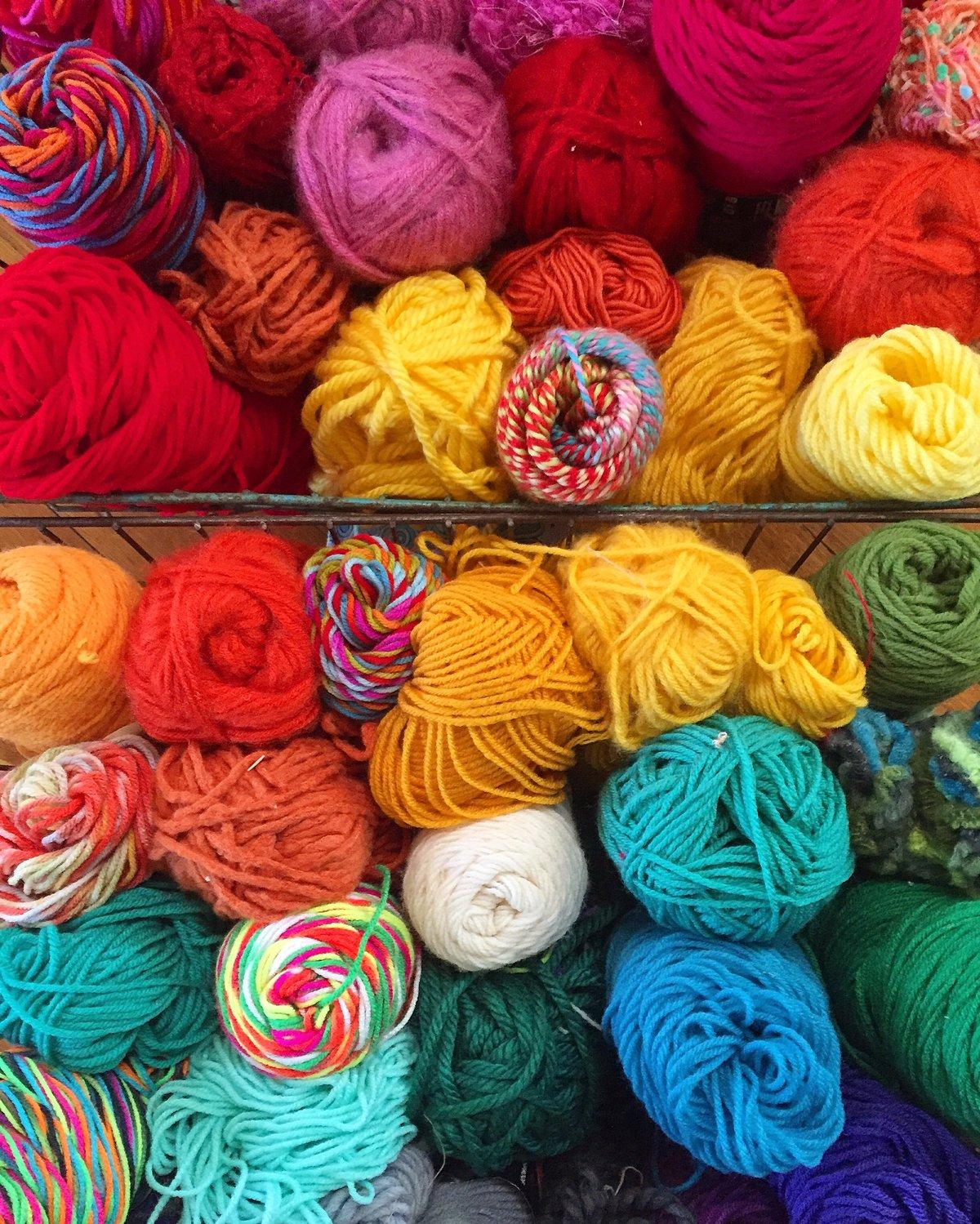 Image of Rainbow Yarn Canvas