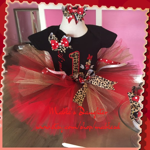 Image of Cheetahlicious Minnie Tutu Set