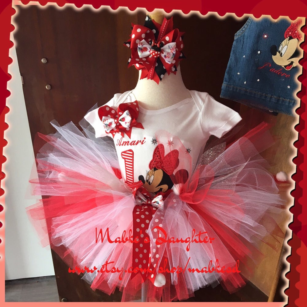 Image of Little Red Minnie Tutu Set