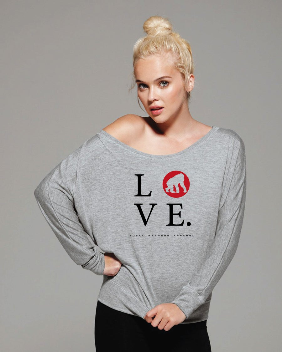 Image of LOVE Off-Shoulder Tee