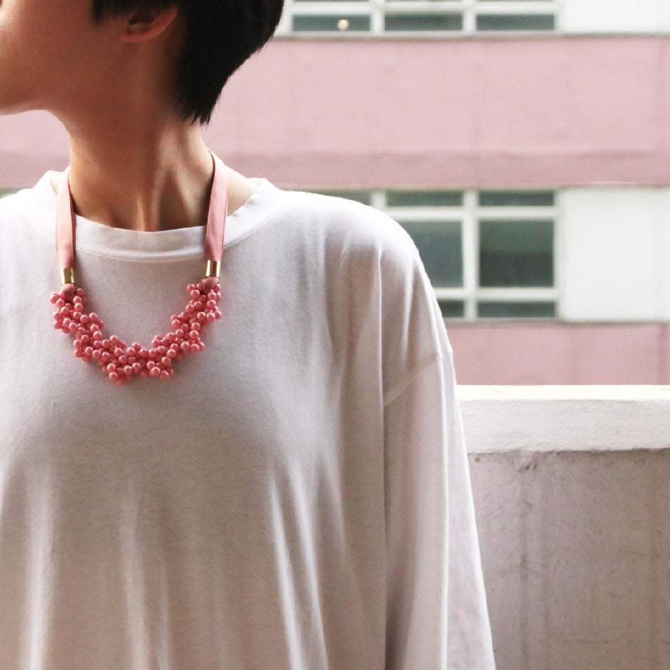 Image of Coral blowing up necklace