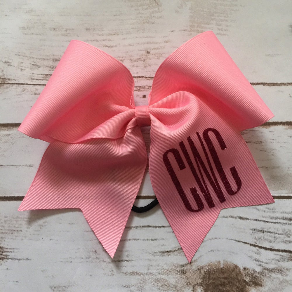 Image of Monogram Cheer Bow
