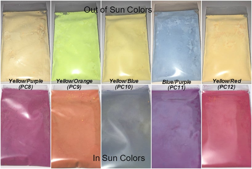 Image of Two-Color Photochromic <P> Pigments - 9 Colors Available