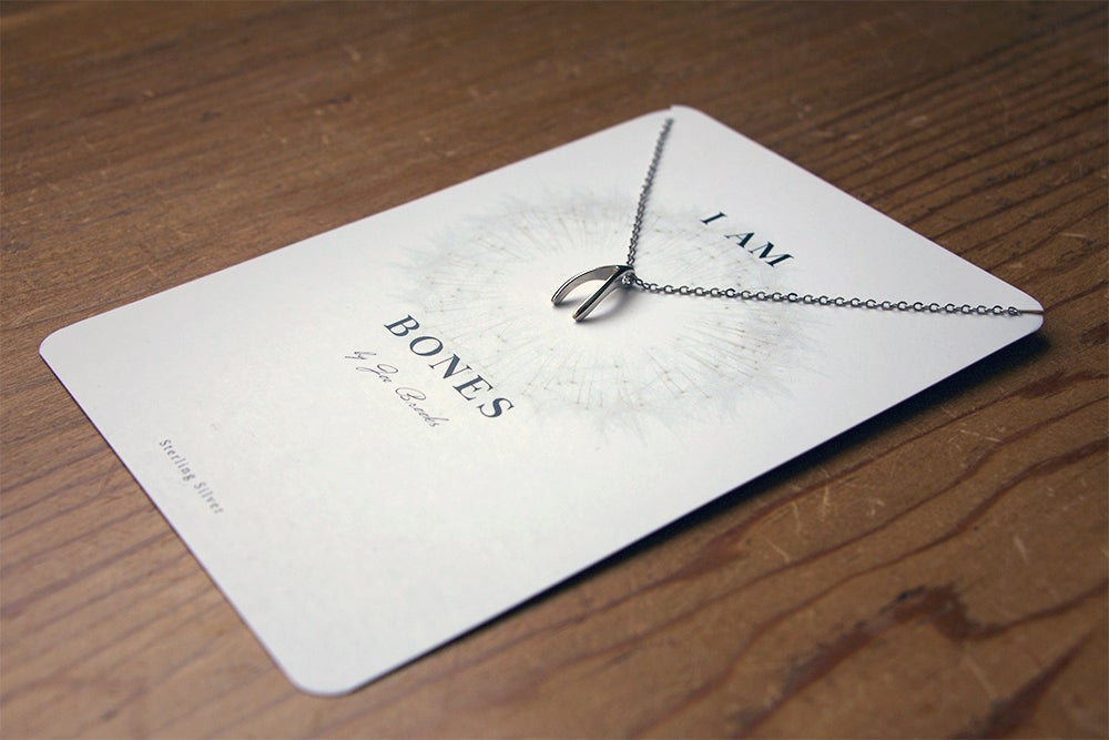 Image of Sterling Silver Wishbone Necklace