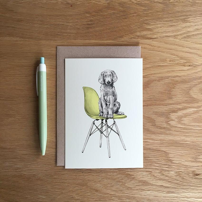 Image of Carte postale Chien-Eames + enveloppe