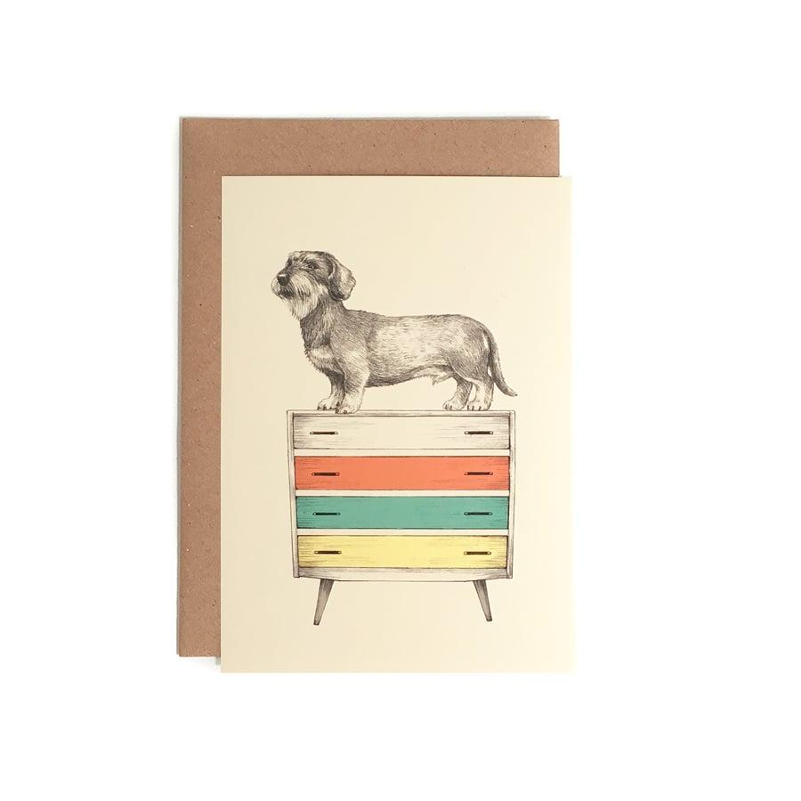 Image of Carte postale Teckel + enveloppe
