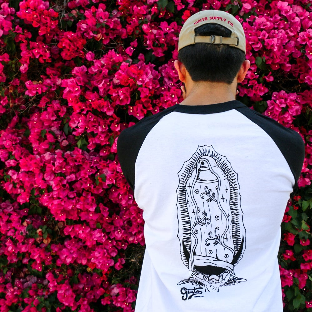 "Image of Baseball tee ""Graffiti Our Religion"""