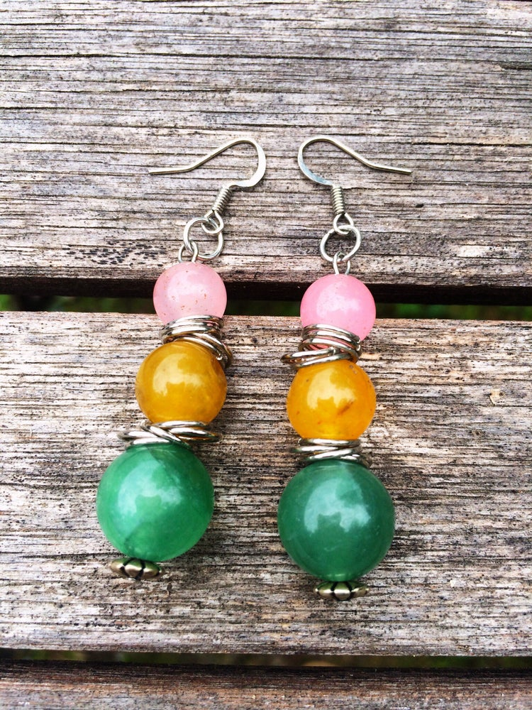 Image of Jasper Bubble Earrings