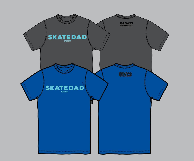 Image of BASD Badass Skatedad T shirt