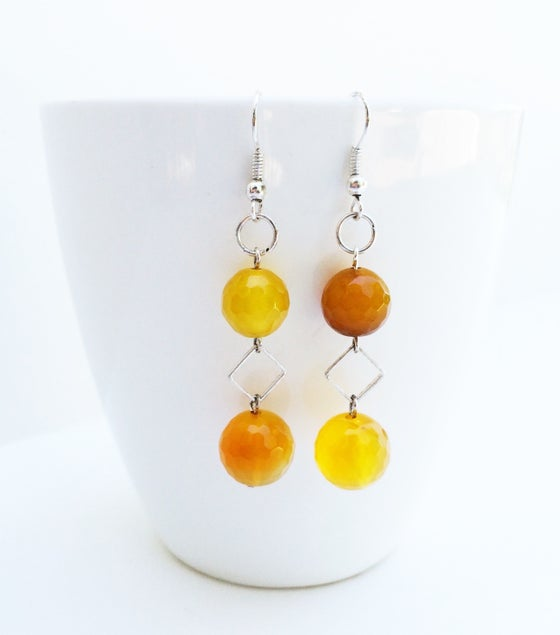 Image of Agate Sunshine Earrings