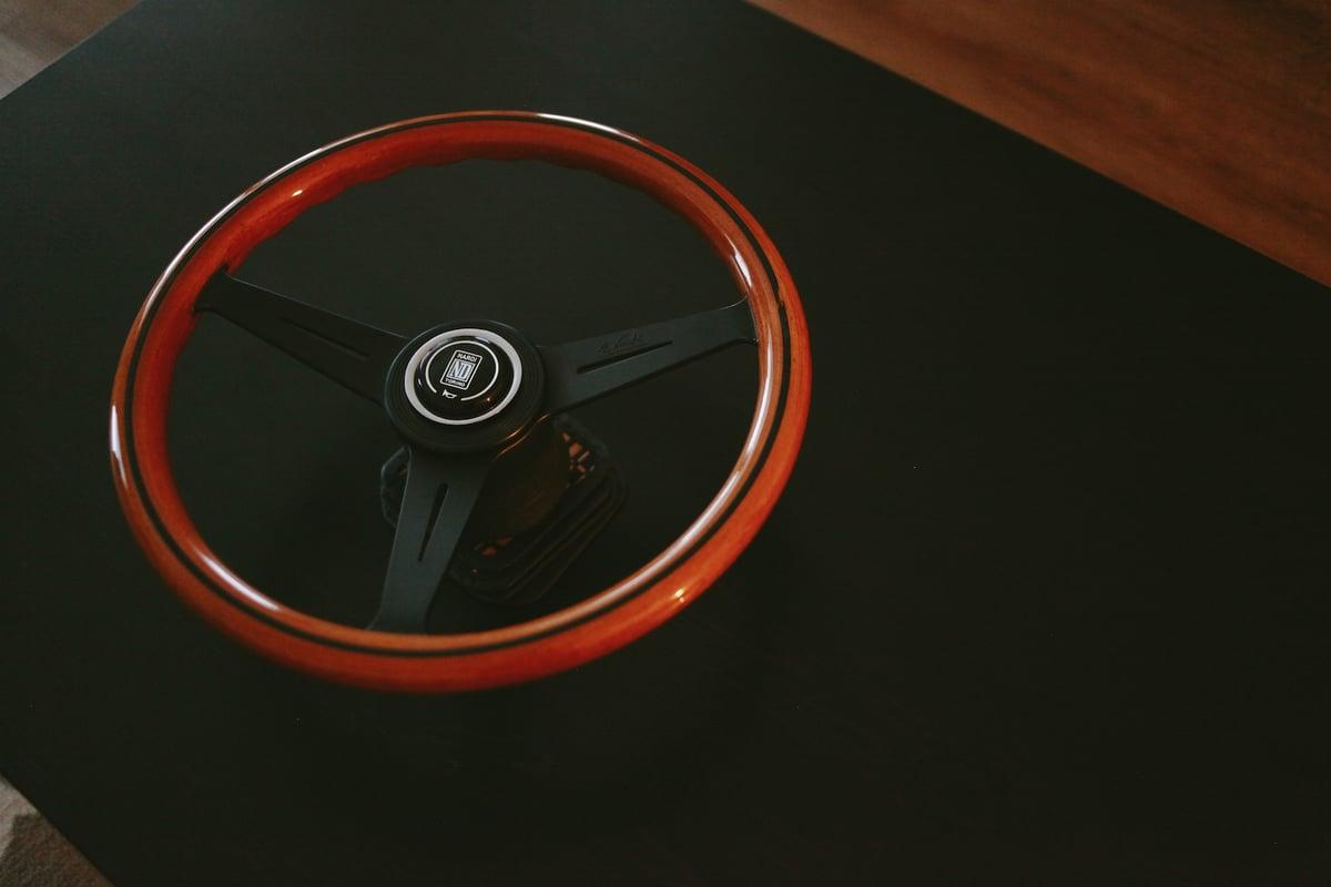 Image of Nardi ナルディウッドステアリング 36cm | Nardi Mahogany Steering 365mm