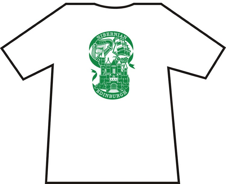 Hibs, Hibernian Harp, Castle and Ship Brand New T-Shirts. Unofficial.