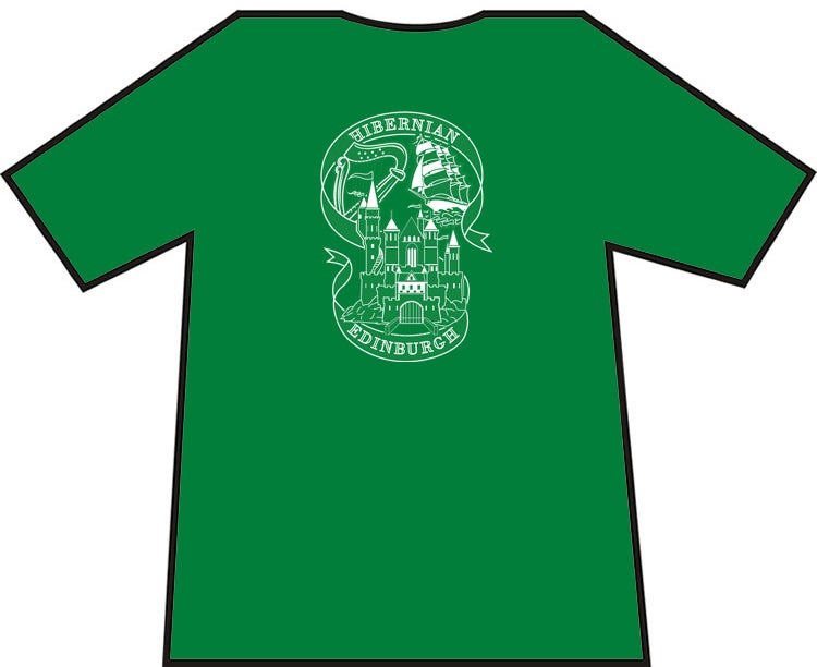 Image of Hibs, Hibernian Harp, Castle and Ship Brand New T-Shirts. Unofficial.