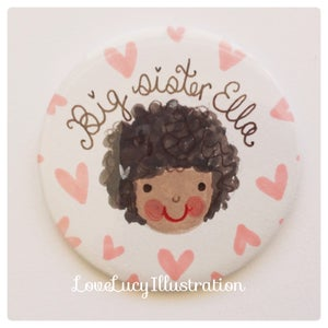 Image of Personalised Big Sister Badge